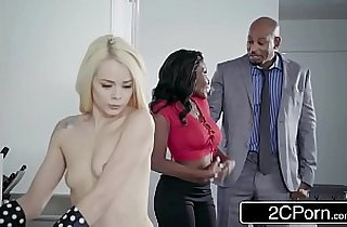 Ebony Couple Seduces Cute Little Teen Elsa Jean, Osa Lovely