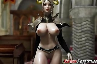 Hardcore 3D Big Tits Beauty Queen