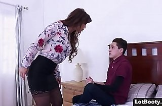 Fat ass and big tits MILF anal fucked and face sitting