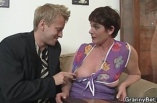 Old mature riding young meat