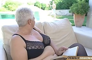 chubby granny seduces the pool guy