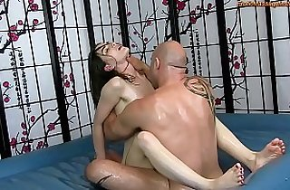 Sensual Oil Body Massage sex with Fucking