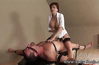 Lady Sonia Strapped Down And Fucked really Hard