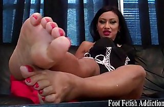 Get on your knees and worship my feet