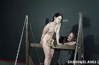Young girls electro bdsm and teen punishment of kinky fetish submissive in