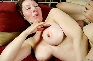 Dirty old spunker enjoys hard fucking and a sticky facial cumshot