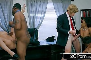 Post Election White House Oval Cabinet Orgy Cherie Deville, Yasmine de Leon