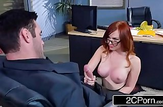 Redhead Dani Jensen Gets Pounded At Work