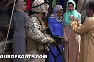 TOUR OF BOOTY Operation Pussy Run with Soldiers In The Middle East!