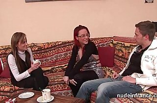 FFM Pretty amateur french milf fucked hard anal penetration for her casting couch