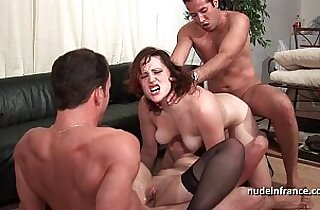 FFMM Two hotties hard style anal double penetration fucking in foursome orgy