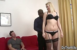 Hot blonde takes BBC in her ass