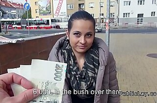 European amateur fucks in public for cash
