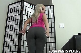 Stroke your dick while I tease with my yoga pants JOI