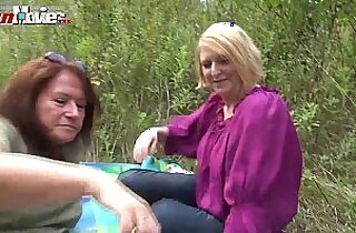 FUN MOVIES Amateur Lesbians fucking in the forest