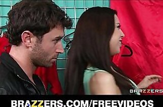 Madison Fox seduces a younger man away from his GF for hard long black dick
