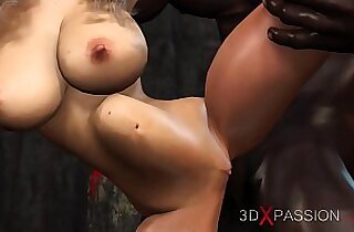 Foxy 3D brunette woman getting fucked hard by Iron high